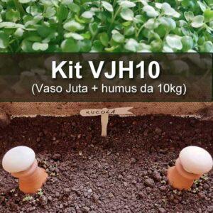 Kit VJH3 (Vaso Juta + humus da 10kg)